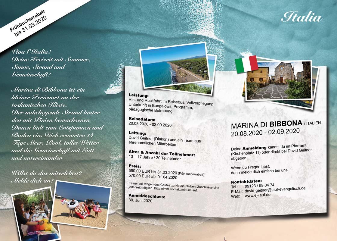 Sommerfreizeit Italien 2020